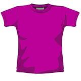 Violeta em branco do t-shirt Fotos de Stock
