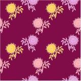 Violeta inconsútil del estampado de flores, flor, rosada en violeta Imagen de archivo libre de regalías