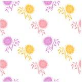Violeta inconsútil del estampado de flores, flor, rosada en blanco Imagen de archivo