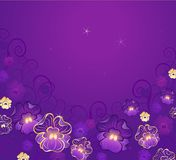 Violeta luxuoso Fotos de Stock Royalty Free