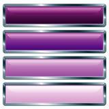 Violeta metálica larga stock de ilustración