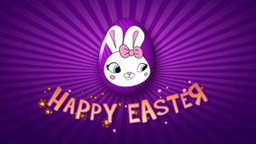Violeta/púrpura felices del infinito del remolque 30 FPS del título de la animación de Pascua ilustración del vector