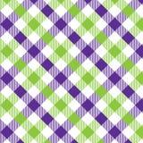 Violeta y verde del modelo de la guinga Texturice para - de la tela escocesa, manteles, ropa, camisas, vestidos, papel, lecho, ma ilustración del vector