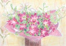 violetas ilustração stock