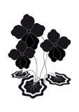 Violetas de Bush. Silhueta Ilustração Stock