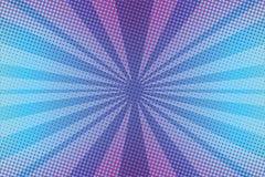 Violeten rays bakgrund för popkonst stock illustrationer