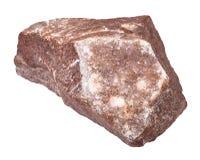 violetkleurige geïsoleerde kristallisatie op rots royalty-vrije stock fotografie