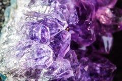 Violetkleurige Kristallen Stock Afbeelding