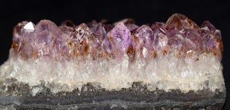 Violetkleurige Kristallen stock fotografie