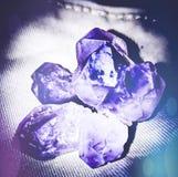 Violetkleurige Stenen stock afbeelding