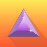 Violetkleurige vector op oranje achtergrond, violetkleurige vector, juwelen, edelsteen Stock Foto's