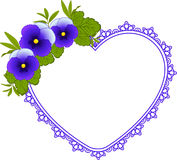 Violets with lace ornaments Royalty Free Stock Images