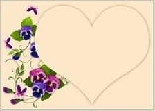 Violets med hjärta Fotografering för Bildbyråer