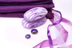 Violett aromatisk tvål Fotografering för Bildbyråer