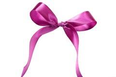 Violett band och pilbåge Isolerat på vitbakgrunden Royaltyfri Bild