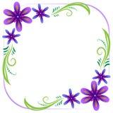 Violett blom- inramar Arkivbild