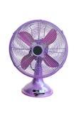 Violett elektrisk fan för tappning Royaltyfri Foto
