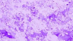 Violett eller purpurfärgad låg poly vinkande yttersida som den populära bakgrunden Violett geometriskt vibrerande miljö eller pul arkivfilmer