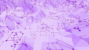 Violett eller purpurfärgad låg poly vinkande yttersida som tecknad filmbakgrunden Violett geometriskt vibrerande miljö eller puls vektor illustrationer