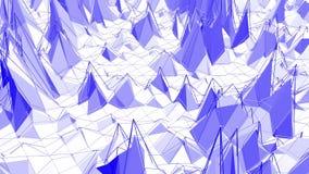 Violett eller purpurfärgad låg poly vinkande yttersida som ursnygg bakgrund Violett geometriskt vibrerande miljö eller pulserar royaltyfri illustrationer