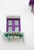 Violett fönster Royaltyfria Foton