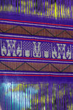 Violett flaggatextur av Thailand fotografering för bildbyråer