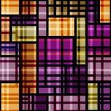 Violett geometrisk modell för pläd Arkivfoton