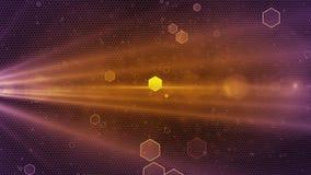Violett guld- färg för abstrakt honungskakabakgrund arkivfilmer