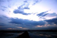 Violett himmel Fotografering för Bildbyråer