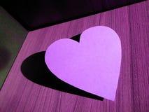 Violett hjärta Royaltyfria Foton