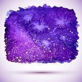 Violett kosmiskt baner för vektorvattenfärg med skugga Royaltyfri Fotografi