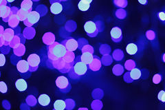 Violett ljus bokeh Royaltyfri Fotografi