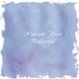 Violett ljus målarfärgvattenfärgtappning och isolat på vit backg Royaltyfri Bild