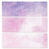 Violett ljus målarfärgvattenfärgtappning och isolat på vit backg Fotografering för Bildbyråer
