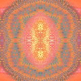 Violett och gult för vanliga symmetriska prydnadapelsingrå färger som purpurfärgat rosa centreras royaltyfri illustrationer