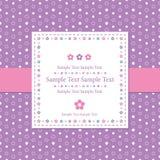 Violett prickhälsningkort Royaltyfri Fotografi