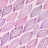 Violett sömlös modell med stiliserade kronblad och sidor, abstrakt bakgrund Royaltyfri Illustrationer