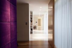 violett vägg royaltyfri bild