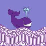 Violett val stock illustrationer