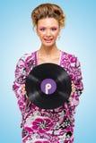 Violett vinyl Arkivfoto