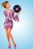 Violett vinyl Royaltyfria Foton