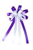 violett white för bow Arkivfoton
