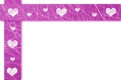 Violetta grungevalentin Royaltyfri Fotografi