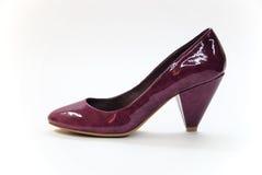 violetta höga skor för häl Royaltyfria Bilder