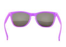 Violetta isolerade solexponeringsglas royaltyfri foto