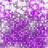 Violette abstracte fonkelende achtergrond met cirkels Royalty-vrije Stock Afbeelding