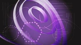 Violette abstracte moderne de vertoningselementen van energietechnologie digitale HUD van een toekomstige cirkel magische ruimte  royalty-vrije illustratie