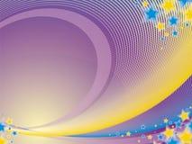 Violette abstractie met sterren stock illustratie