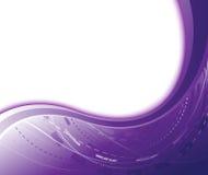 Violette abstrakte geometrische Fahne lizenzfreie abbildung