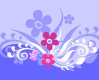 Violette achtergrond royalty-vrije illustratie